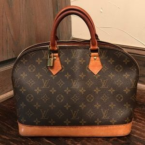 100 %  Authentic  Louis Vuitton Alma Bag-